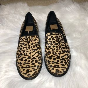 Dolce Vita Calf Hair Leopard Loafers 8.5